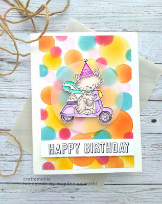 Happy Birthday by Mugdha features Newton Scoots By by Newton's Nook Designs; #newtonsnook