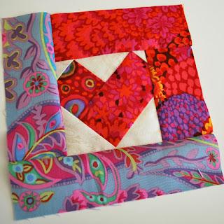 heart quilt block: QuiltBee