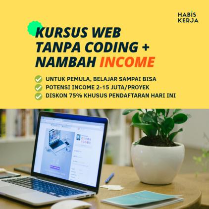 Review Membuat Website Tanpa Coding di Habiskerja.com