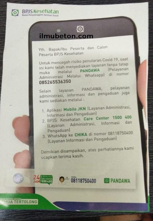 Pelayanan Administrasi melalui Whatsapp (PANDAWA)