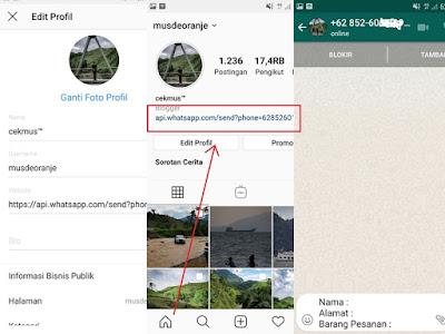 Cara Memasukkan Link WhatsApp Di Bio Instagram