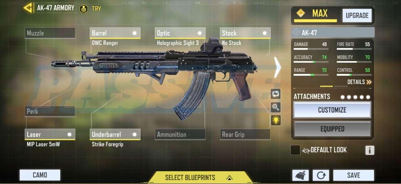 Passive gameplay ak-47 gunsmith