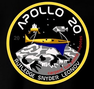 This is the supposedly cancelled Apollo 20 insignia space patch.