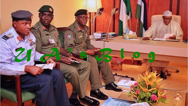 Details of Buhari's meeting with security chiefs emerge