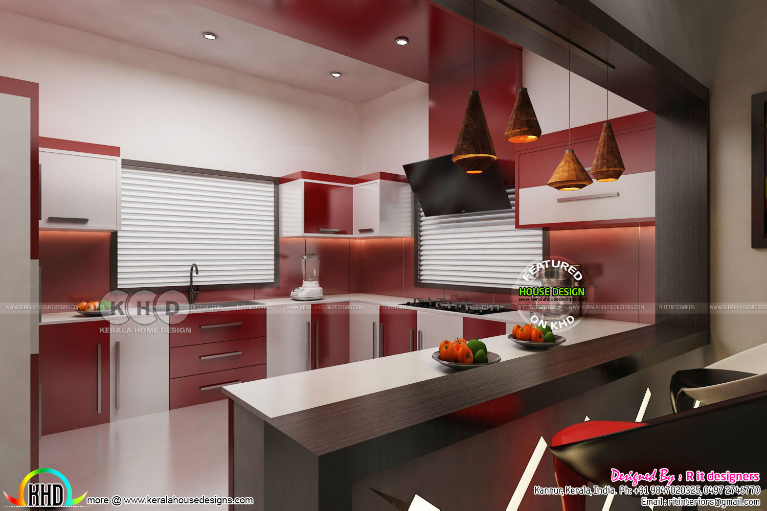 Dining, kitchen interior designs - Kerala home design and ...