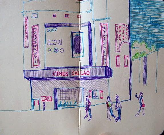 Concurso De Dibujo Urbano En Libreta Fnac Madrid: TAMO DE TINTA: Madrid Con Boli De Colores
