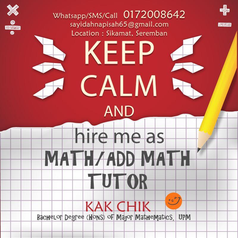 Anak Murid Tutor.. Math Trial PT3 dapat C, Matematik PT3 Sebenar A!