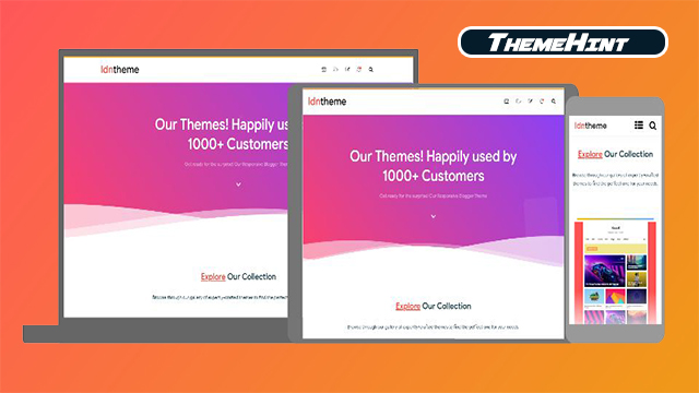 IDNTheme Premium Blogger Template Free Download by ThemeHint