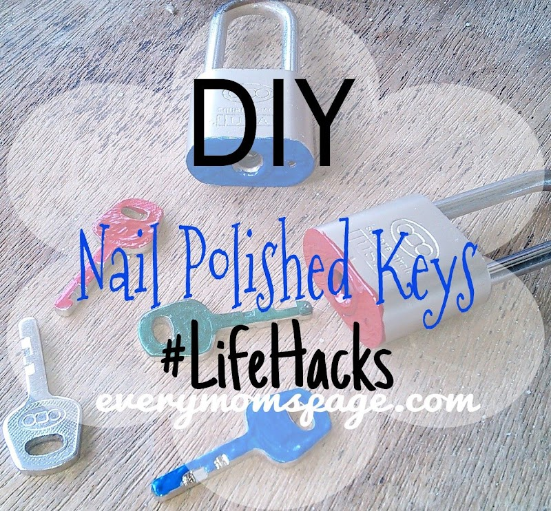 DIY: Nail Polished Keys #ColorCoding #LifeHacks