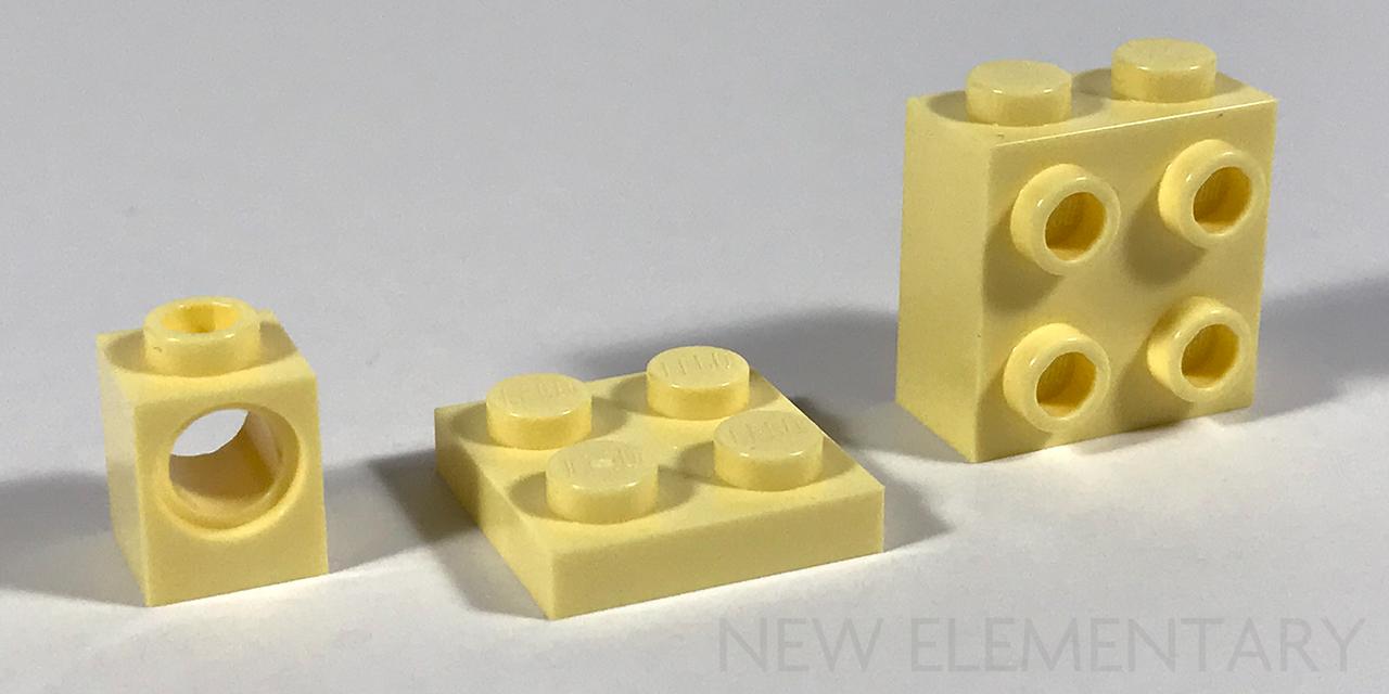 Lego 10 New Bright Light Yellow Bricks 1 x 3 Dot Pieces