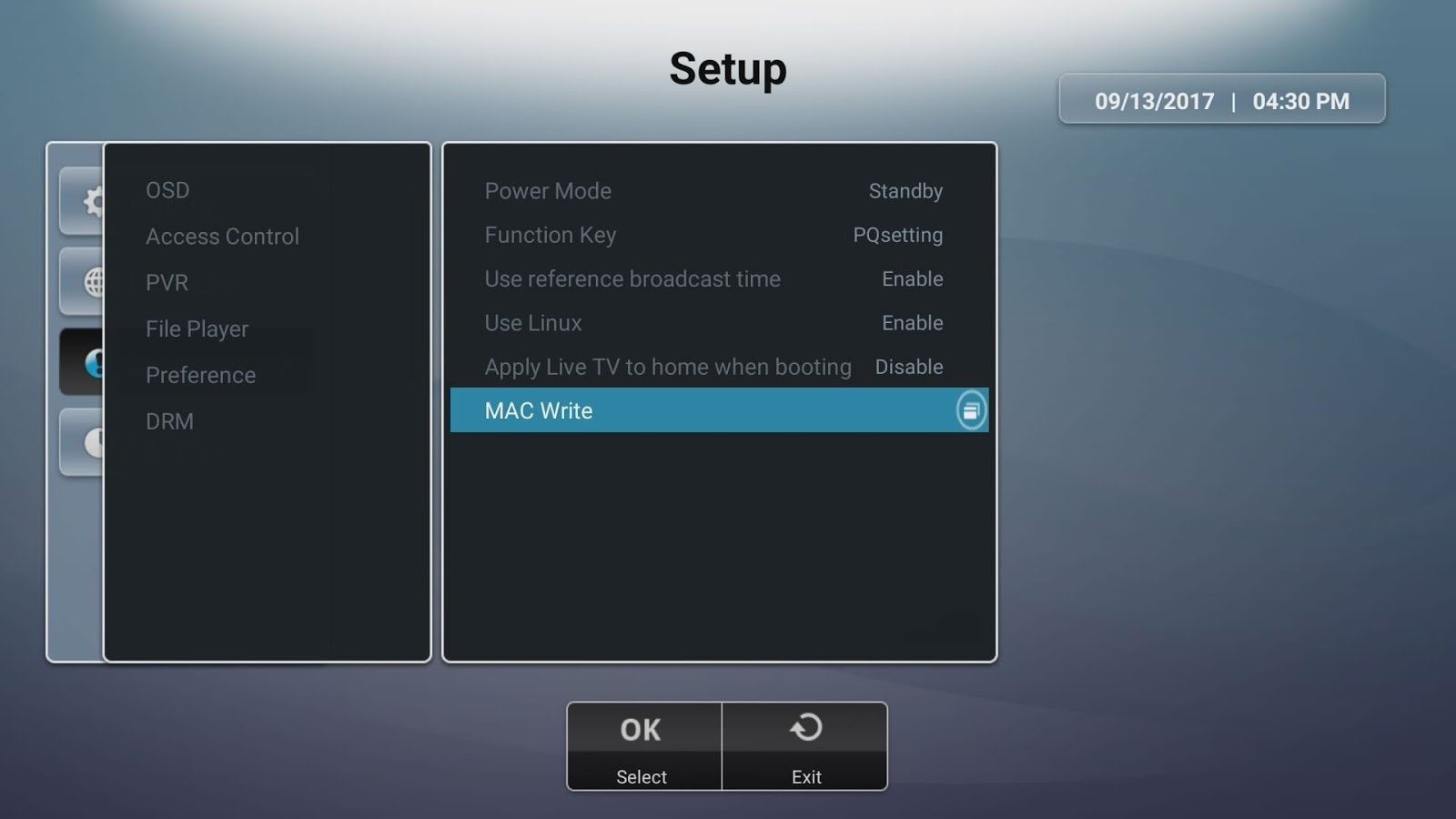 How to edit Mac address after upgrading U5PVR ATV7 firmware  | U5PVR
