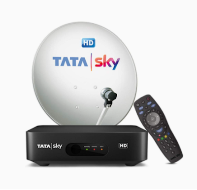 Tata Sky HD Set Top Box with free Installation and  1 Month HD Hindi Basic Pack
