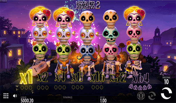 Main Gratis Slot Indonesia - Esqueleto Explosivo 2 (Thunderkick)