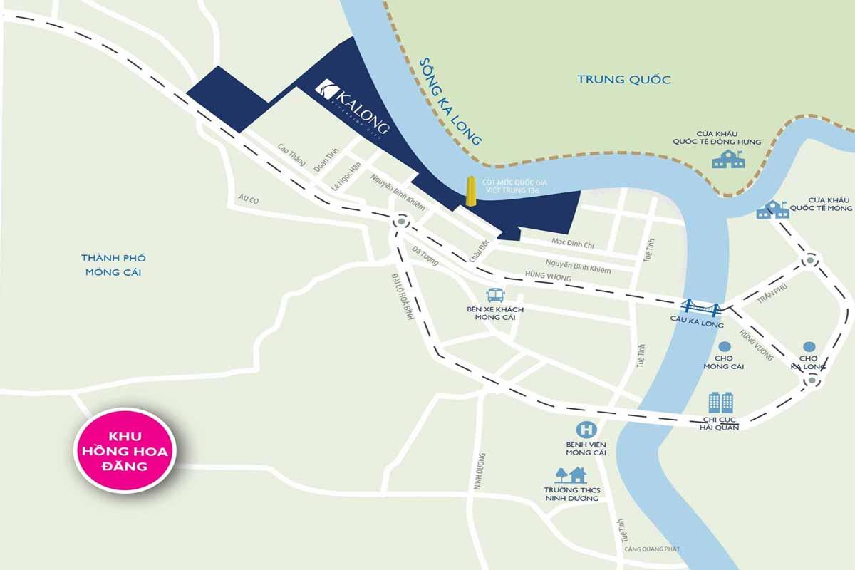 Vị trí dự án KaLong Riverside City