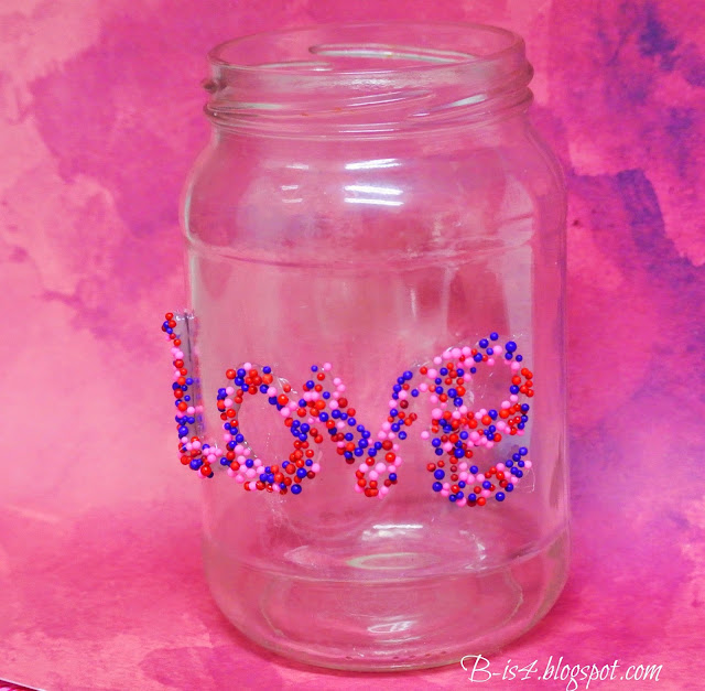 sprinkles, crafts, recycle jars