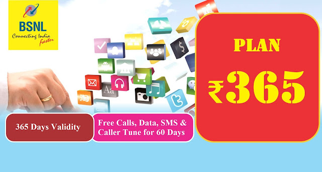BSNL ₹365 validity recharge plan : The most economical prepaid mobile plan with 1 year validity