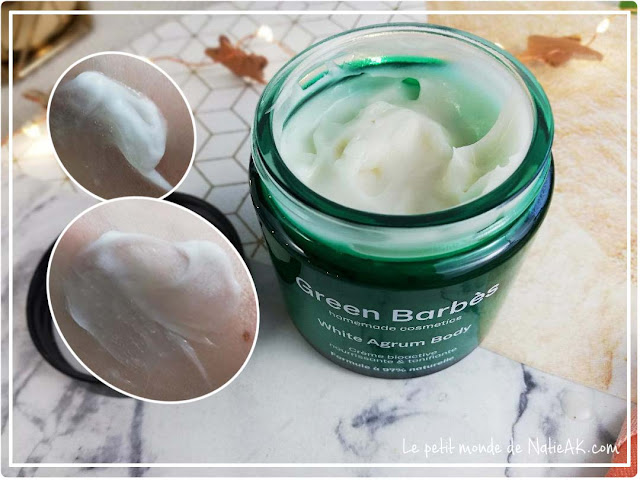 kit cosmétique maison White agrum de Green Barbès : crème corps