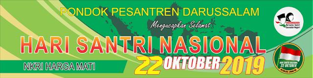 Desain Spanduk, Baliho, Banner Hari Santri Nasional 2019
