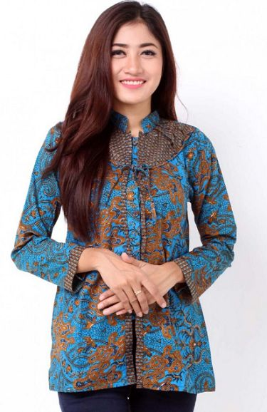 20 Model Baju Batik Kantor Modern 2018, Desain Elegan ...