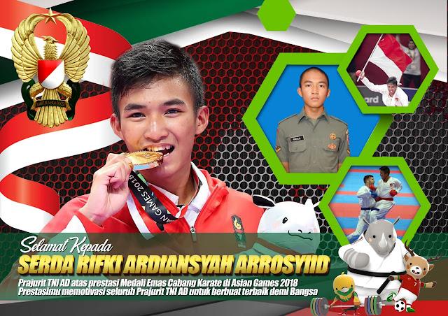 Atlit Kodam V/Brawijaya Sumbang Medali Emas Cabor Karate di Asian Games 2018