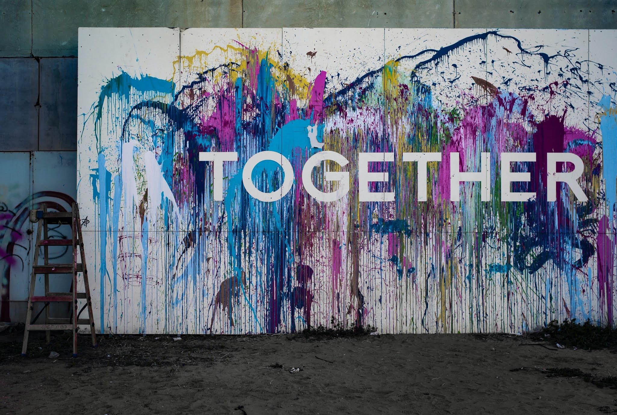 jasa mural jakarta murah Abstrak
