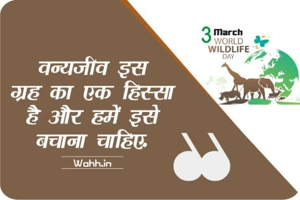 World Wildlife Day  Thoughts In Hindi With Images