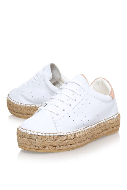 kurt geiger white lace up espadrille,