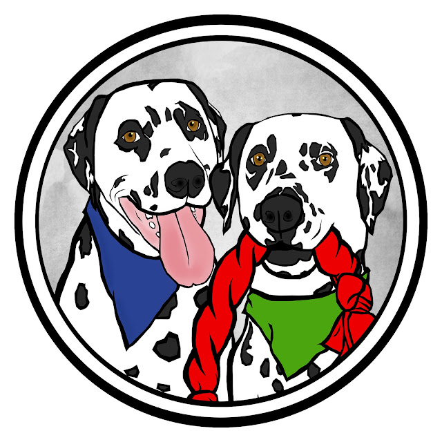 Pop art portrait of the Dalmatian DIY blog dogs