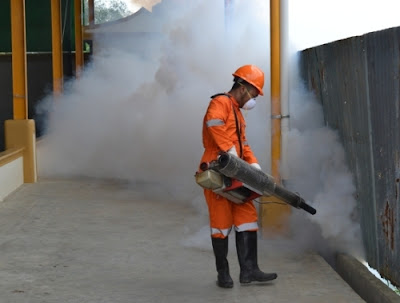 kegiatan fogging memberantas nyamuk