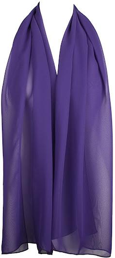 Solid Color Purple Chiffon Scarf