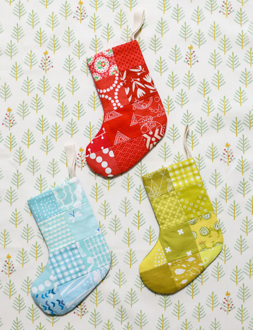 In Color Order: Mini Patchwork Stocking Tutorial
