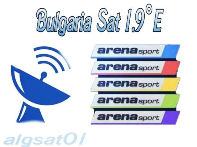 القمر البلغاري - BulgariaSat-1 - -قنوات Arena Sport البلغارية  تردد القمر البلغاري