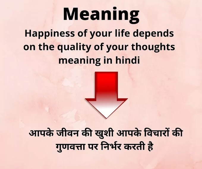 Happiness of your life thoughts meaning in hindi