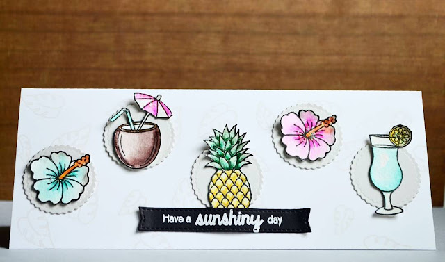 Sunny Studio Stamps: Tropical Paradise Summertime Customer card by Lenae