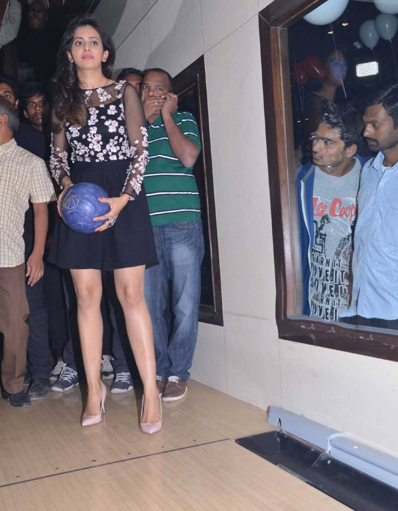 Rakul Preet Singh Playing Stills In Black Dress