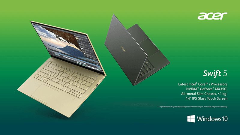 Acer launches new Swift 5 laptop and ConceptD series for creators