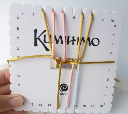 How to Make a Square Plate Kumihimo Bracelet with Button