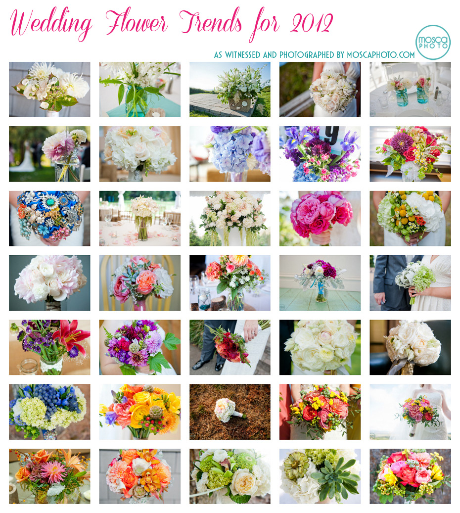 © MoscaPhoto.com Wedding Bouquet Floral Arrangement Inspiration