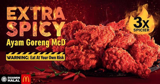 ayam goreng mcd 3x extra spicy