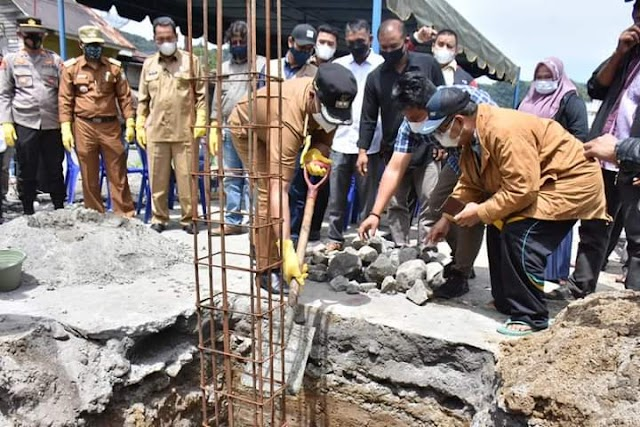 Plt Bupati Letak Batu Pertama Pembanguan Rumah Korban Kebakaran Bener Meriah