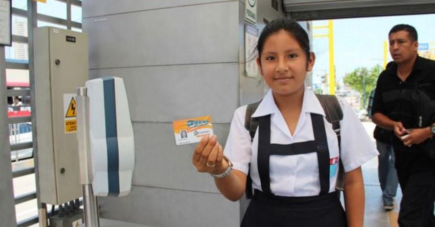 METROPOLITANO: A partir de mañana miércoles podrán tramitar tarjetas preferenciales escolares de medio pasaje, informó Protransporte