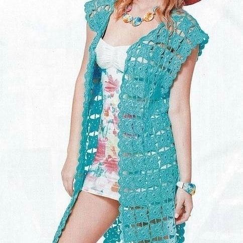 Kimono Lindo em Crochê