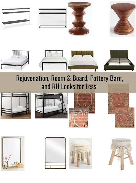 Rejuvenation, Room & Board, Pottery Barn, and World Market Looks for Less