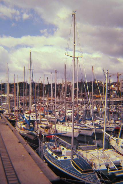 old photo: yachts in Marina do Funchal