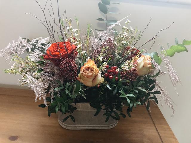 Moonpig Christmas flowers table decoration arrangement