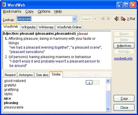 WordWeb 8.11 - Το απόλυτο Αγγλικό λεξικό
