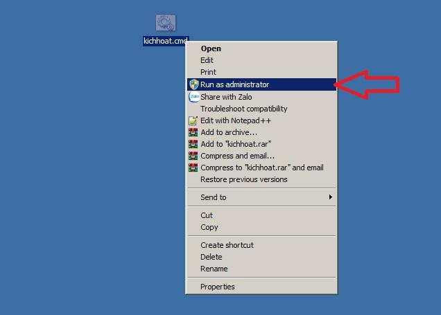 Bạn phải chạy file với quyền quản trị mới có thể thực hiện được