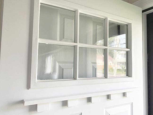 dentil moulding shelf on front door
