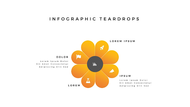 Infographic Teardrop elements for PowerPoint Slide 2
