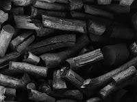 Yanmış odun kömürü